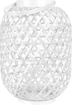 Present Time Lattice - Windlicht - 37 x 26 cm - Bamboe - Wit