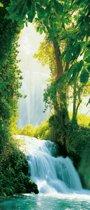 Fotobehang Zaragoza Falls - Deurposter - 200 x 86 cm - multi