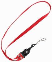 BestCases - Keycord sleutelkoord voor hoesjes, pasjes of sleutels Rood
