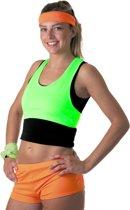 Fluo groene top voor vrouwen - Volwassenen kostuums