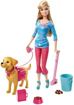 Barbie en Taffy Trainer - Barbie pop met hond