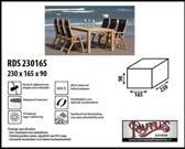 RDS230165 Beschermhoes voor tuinset, tafel met stoelen 230 x 165 H: 90 cm taupe