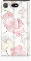 Flipcase Sony Xperia XZ1 Compact Design Lovely Flowers