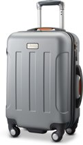 Jeep Miami 55x35x25cm - Handbagage koffer - 4 Wielen - Zilver/Grijs - TSA-slot