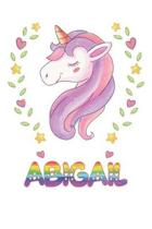 Abigail: Abigail Notebook Journal 6x9 Personalized Gift For Abigail Unicorn Rainbow Colors Lined Paper