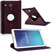 Samsung Galaxy Tab E 9.6 Inch Hoes Cover 360 graden draaibare Case paars