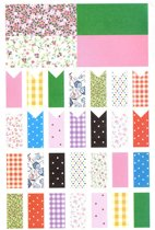 Washi stickers | 32 stickers per vel | 2 vellen