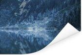 Weerspiegeling van het Tatra-gebergte bij het Nationaal park Tatra Poster 120x80 cm - Foto print op Poster (wanddecoratie woonkamer / slaapkamer)