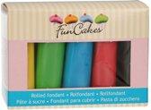 FunCakes Rolfondant Multipack Essentiële Kleuren 5x100g