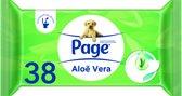 Page Aloë Vera - 12x 42 stuks - Vochtig Toiletpapier Navulling - Voordeelverpakking
