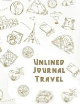 Unlined Journal Travel
