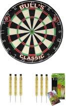 Bulls Classic dartbord plus 2 sets MvG 20 gram dartpijlen met gesigneerde kaart - dartbord - dartpijlen - michael van gerwen