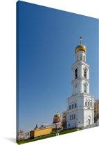 De klokkentoren van Samara in Rusland Canvas 40x60 cm - Foto print op Canvas schilderij (Wanddecoratie woonkamer / slaapkamer)