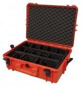 Gaffergear camera koffer 050 oranje  - Met klittenband vakverdeling    -  42,80   x 21,10  x 21,10  cm (BxDxH)