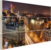 FotoCadeau.nl - Gran Via van Madrid Hout 60x40 cm - Foto print op Hout (Wanddecoratie)