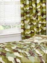 camouflage gordijn plooiband 2x168bx183lcm