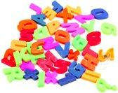 ProductGoos - 42x Letter en cijfer magneten multicolour