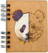 Houten notitieboek - A6 – Blanco – Panda