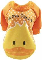 Trui voor honden - Oranje trui voor hondjes - Love Ducks Design - Maat M