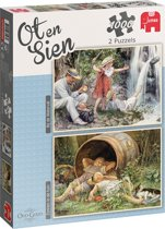 Jumbo puzzel Ot en Sien 2 X 1000 stukjes - Bij de waterval &  Zonnen in de tuin