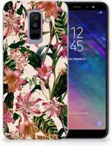 Samsung Galaxy A6 Plus (2018) TPU Siliconen Hoesje Flowers