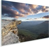 Uitzicht over Nationaal park Blue Mountains in NSW Australië Plexiglas 180x120 cm - Foto print op Glas (Plexiglas wanddecoratie) XXL / Groot formaat!