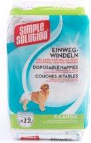 Simple Solution Wegwerp Honden Luier - XL 12ST 45-58 CM
