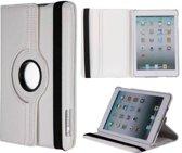 iPad Mini 1/2/3 hoes 360° roteerbaar leder Wit