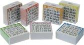 Bingo kaarten 1-75 gekleurd