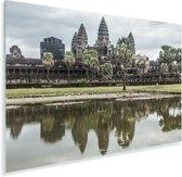 Angkor Wat gereflecteerd in het water Plexiglas 180x120 cm - Foto print op Glas (Plexiglas wanddecoratie) XXL / Groot formaat!