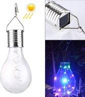 IP55 Waterdichte LED zonne-energie koperdraad lamp  5 LEDs milieu vriendelijke hangende Lamp met zonnepaneel (kleurrijke Light)