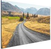Weg Nieuw-Zeeland  Aluminium 120x80 cm - Foto print op Aluminium (metaal wanddecoratie)