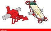 OTG strap rood telefoonhouder