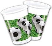 Procos Feestbekers Voetbal 200 Ml 8 Stuks Groen