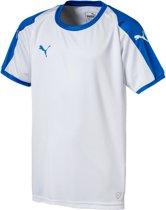 Puma Liga  Sportshirt - Maat 164  - Unisex - wit/blauw