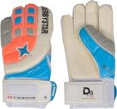Derbystar Goalie Keepershandschoenen Senior Keepershandschoenen - Unisex - oranje/blauw/grijs/wit Maat 12/ Lengte hand 22cm