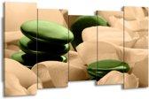 Canvas schilderij Spa | Groen, Bruin | 150x80cm 5Luik