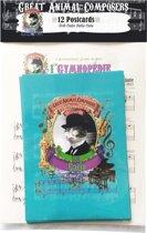 Erik Catie - Satie Piano Cat (Kat) Animal Composer - Kaarten - 12 stuks
