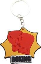 Boksen sleutelhanger - Boxing  - Motivatie Geschenk - Boksen - Cadeau - Boksbal - Bokshandschoenen - Boks handschoenen