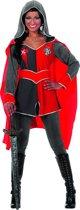 Ridderdame Gwen grijs - rood Maat 36