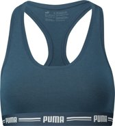 PUMA Beha Dames ICONIC RACER BACK BRA 1P - Dark Denim