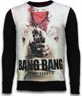 Local Fanatic Monroe Bang Bang - Digital Rhinestone Sweater - Zwart - Maten: XXL