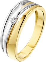 The Jewelry Collection Ring Diamant 0.04 Ct. - Bicolor Goud (14 Krt.)
