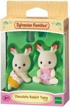 Sylvanian Families 5080 Tweeling Chocoladekonijn - Speelfigurenset