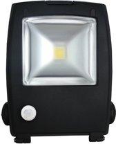 LED Schijnwerper 10W 700lm IP65 interne PIR sensor daglicht wit