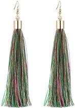 Fako Bijoux® - Oorbellen - Kwast XL - Multicolor