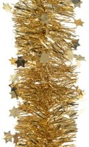 Guirlande ster lametta 270cm goud Kerstartikelen