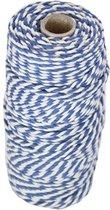 Baktouw, Slagerstouw, Decoratietouw (katoen, blauw-wit, 100 gram, ca 80 meter)