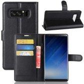 Samsung Galaxy Note 8 Hoesje Zwart met opbergvakjes