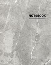 Notebook: trendy Marble with black Lettering - Marble Journal - 110 College-ruled Pages - 8.5 x 11 - ( Journal, Notebook, Diary,